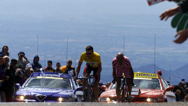 Lance Armstrong and Marco Pantani, on Mont Ventoux (2000)