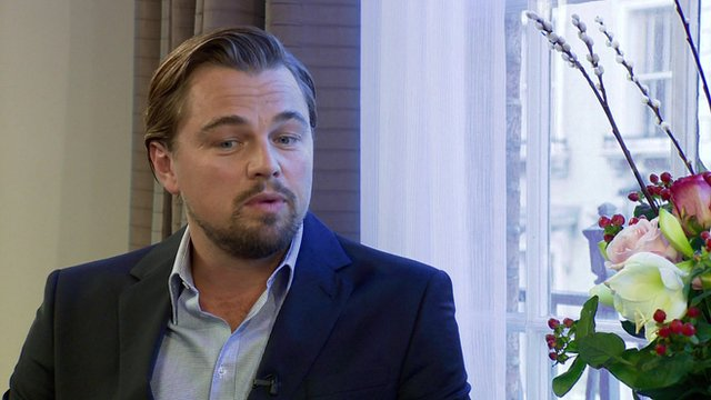 Leonardo DiCaprio talks to Andrew Marr