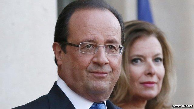 President Francois Hollande and Valerie Trierweiler - file photo
