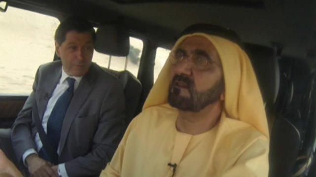 Sheikh Mohammed and Jon Sopel