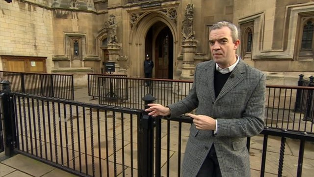 Giles Dilnot outside Parliament