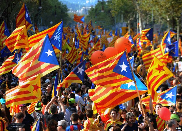 Barcelona pro-independence rally, 11 Sep 12