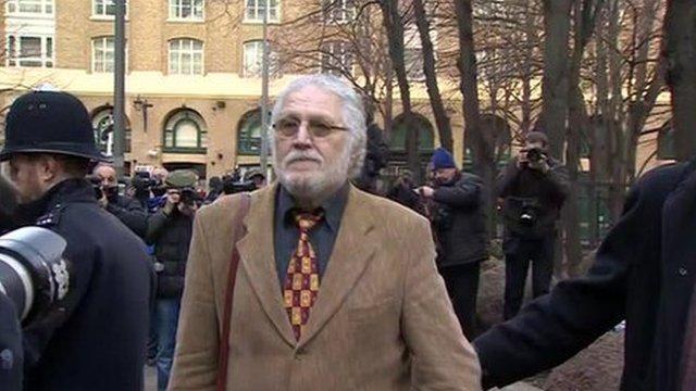 Dave Lee Travis arrives at Southwark Crown Court for trial