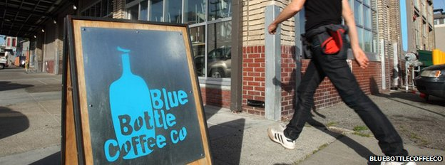 BLue Bottle Coffee Co sign