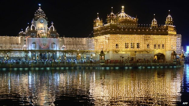 The Golden Temple is the holiest shrine for Sikhs