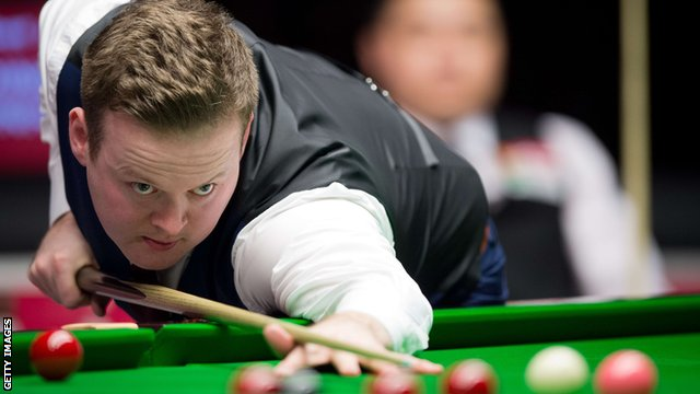 Shaun Murphy plays a shot during the Masters