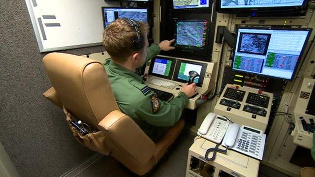 Flying drones at RAF Waddington
