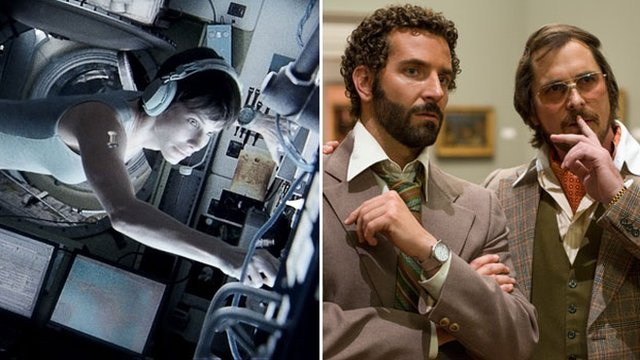 Gravity and American Hustle
