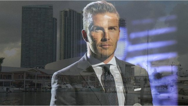 David Beckham and the Miami Skyline