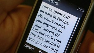 Mobile phone text message