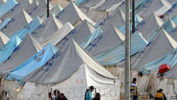 Syria refugees in Karkamis, Turkey, 16 Jan