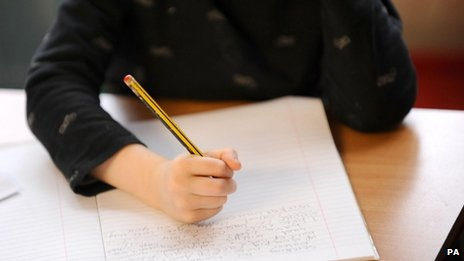 File photo dated 08/02/12 of a primary school pupil at work in a classroom