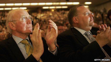 Lord Rennard with former leader Sir Menzies Campbell at the 2006 Liberal Democrat Party conference