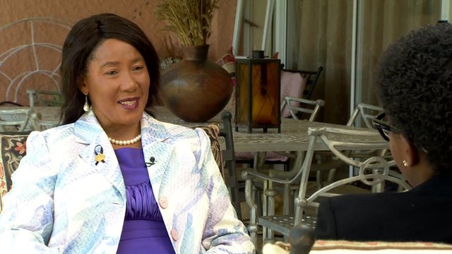 Makaziwe Mandela, the daughter of former South African President Nelson Mandela