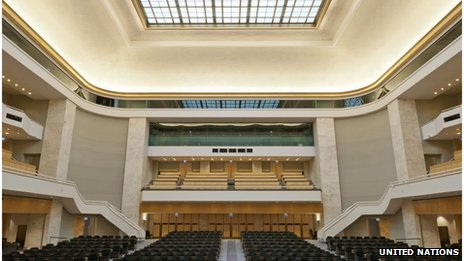 A product of its time: The art deco assembly hall at the UN in Geneva