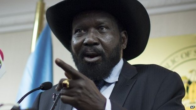 Souht Sudan's President Salva Kiir in Juba, 20 January 2014