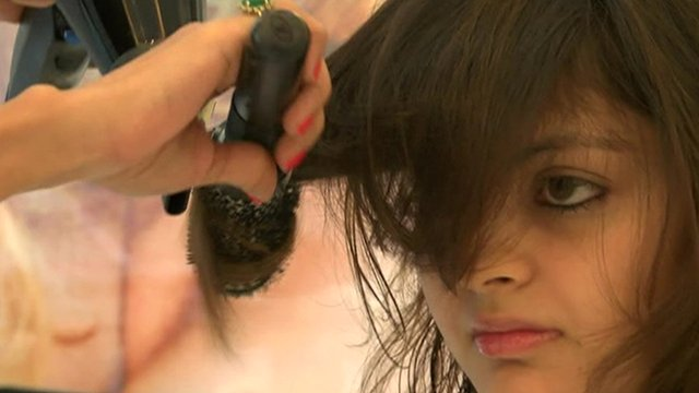 woman at salon