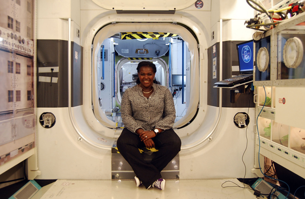 Dr Maggie Aderin-Pocock at NASA Space Centre, Houston, US