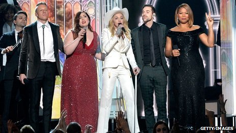 Macklemore, Mary Lambert, Madonna, Ryan Lewis and Queen Latifah