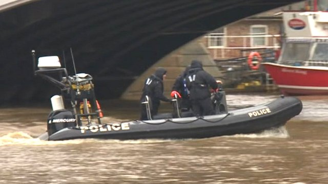 Police divers search River Ouse in York