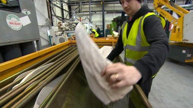 Production line at Petford Tools Ltd