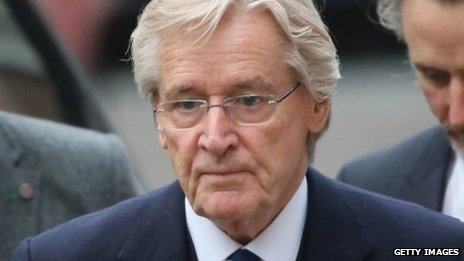 William Roache arrives at Preston Crown Court for the 12th day of his trial