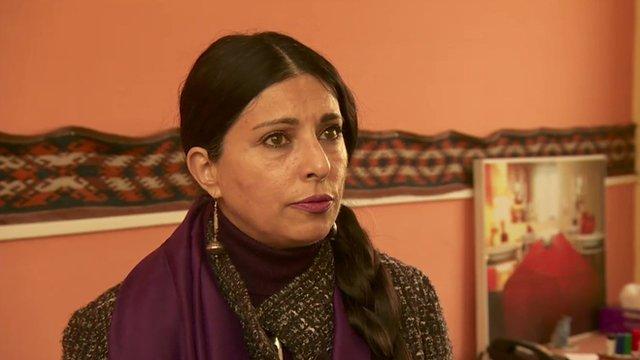 Afghan businesswoman Hassina Sherjan