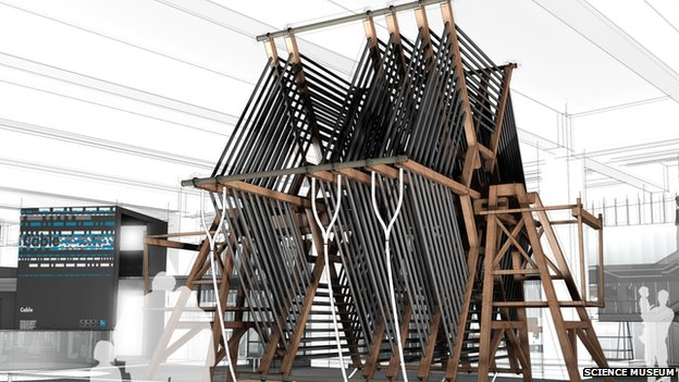 Artist's impression of the tuning coil in the new gallery