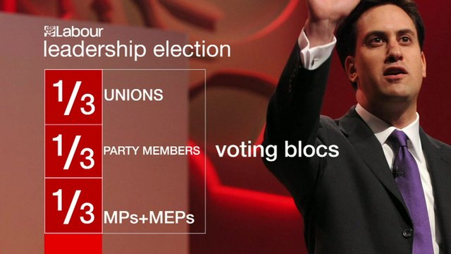 Graphic showing current voting rights for Labour leadership campaigns