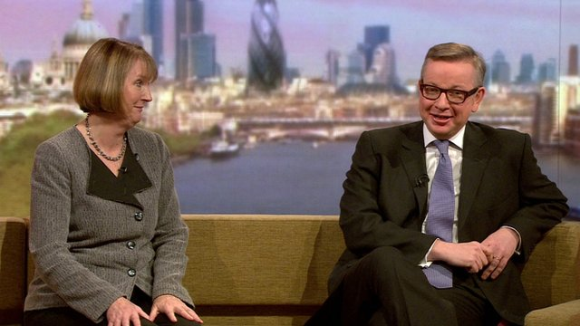 Harriet Harman and Michael Gove