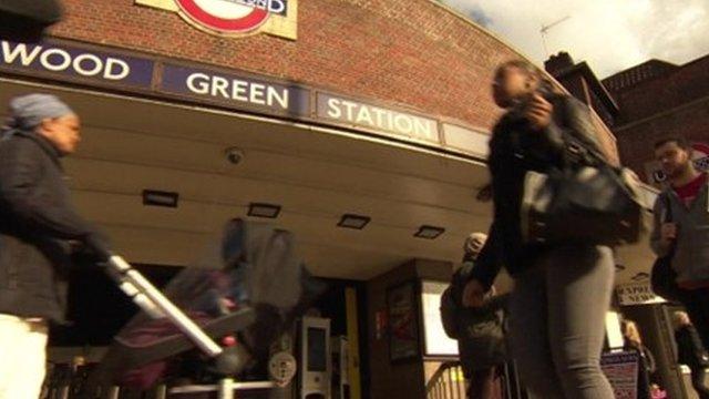 Tube users at Wood Green