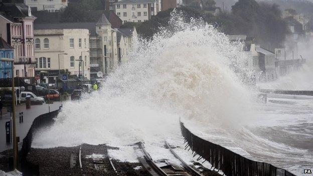 Waves at Dawlish