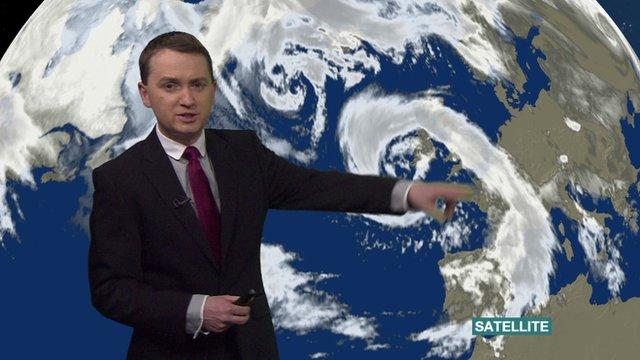BBC weather presenter Matt Taylor