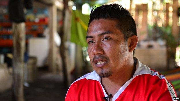 Romeo Cordova Rios, brother of Ezequiel Cordova Rios, companion of Salvadorean castaway Jose Salvador Alvarenga.
