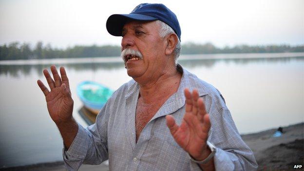 The former boss of Salvadorean castaway Jose Salvador Alvarenga, Bellarmino Rodriguez Solis
