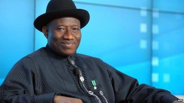 A photo taken on 23 January 2013 of Nigerian President Goodluck Jonathan