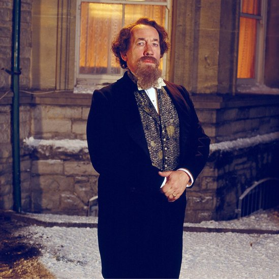 Simon Callow playing Charles Dickens in Doctor Who