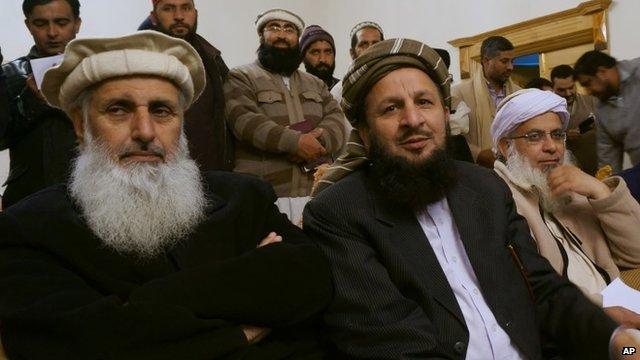 Taliban representatives in Islamabad