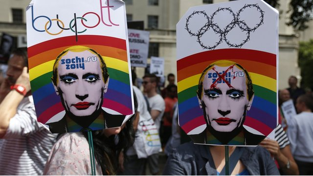 Anti-Putin protest in London