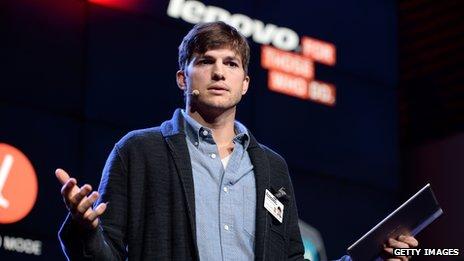 Ashton Kutcher at a Lenovo event