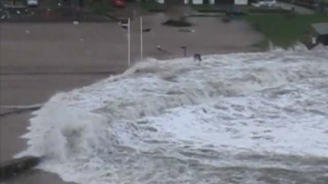 Wave washes ashore at Seaton Beach, Cornwall. Pictures courtesy Kate Entwistle