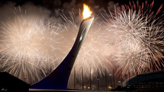 The Olympic flame is lit in Sochi