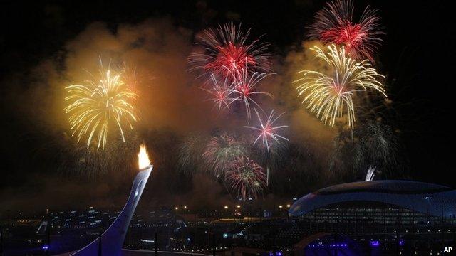 Fireworks as Sochi 2014 gets under way