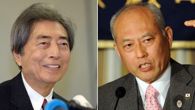 Former Prime Minister Morihiro Hosokawa and Yoichi Masuzoe