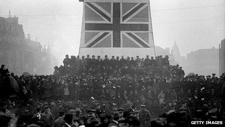 A rally in Trafalgar Square