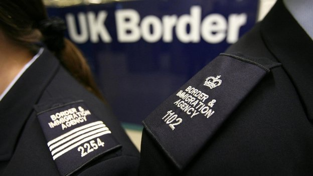 UK Border and  Immigration officers