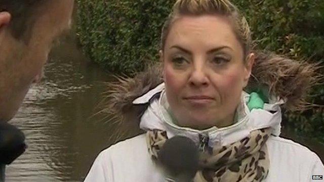 Angry Wraysbury resident, Jane Davison, talks about flooding