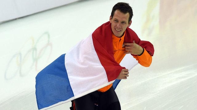 Stefan Groothuis with Dutch flag