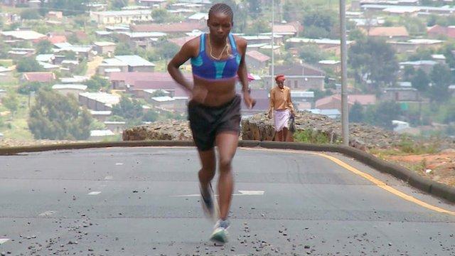 Lesotho's marathon runner Mamorallo Tjoka