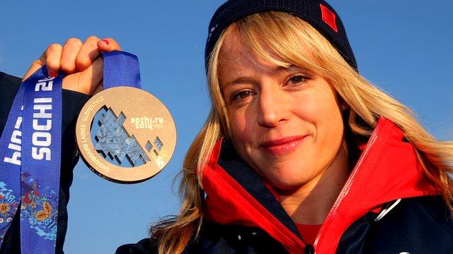 Snowboarder Jenny Jones' day in the spotlight